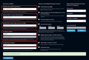 Nastavenia TrustPay portálu