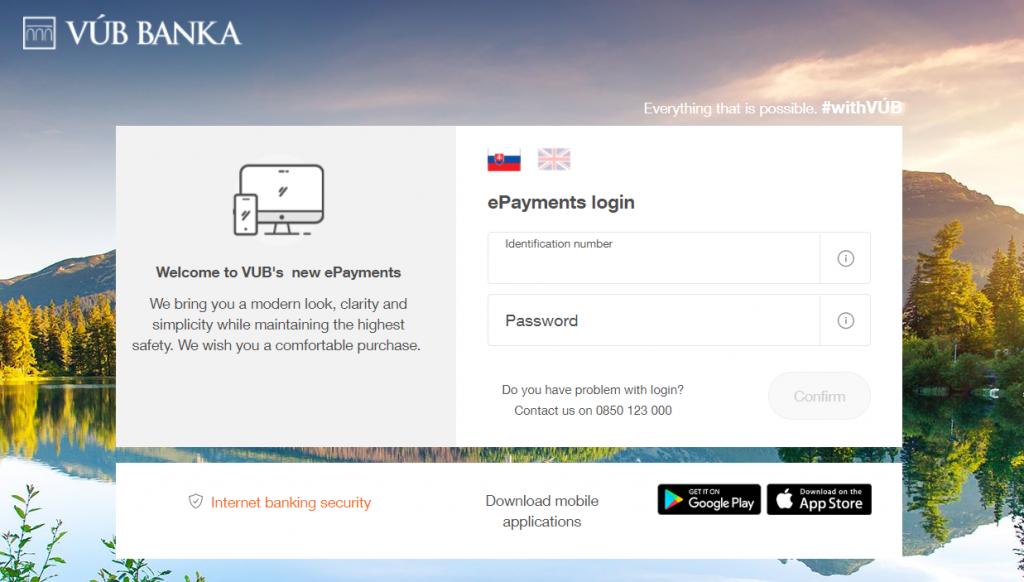 VÚB ePlatby plugin - rozhranie banky