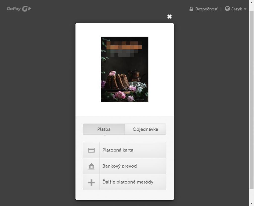 GoPay plugin - rozhranie banky