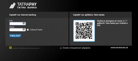 TB TatraPay plugin - rozhranie banky