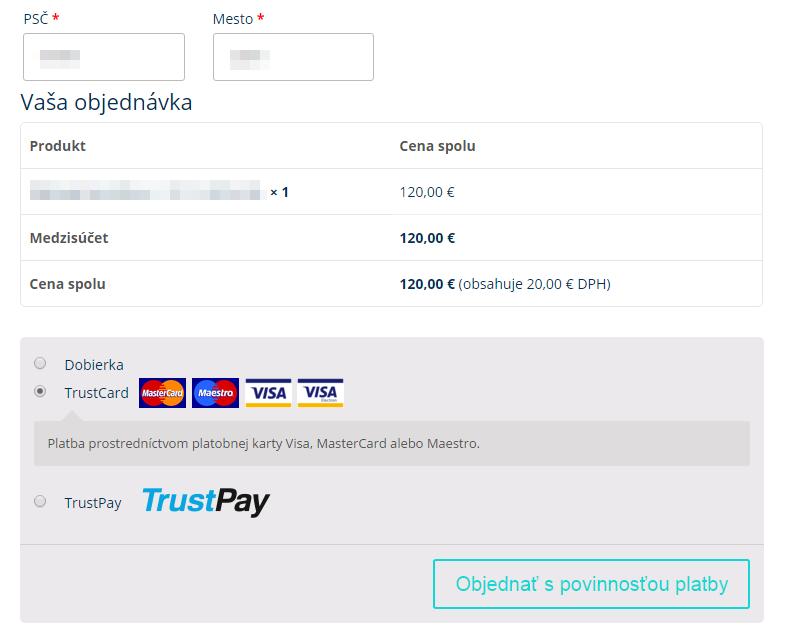 TrustCard plugin - zobrazenie v e-shope