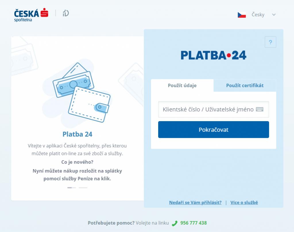 Platba 24 plugin - rozhranie banky