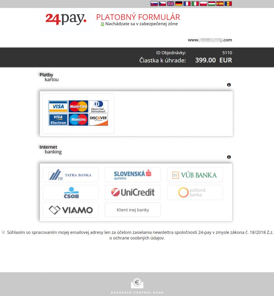 24pay plugin - rozhranie banky